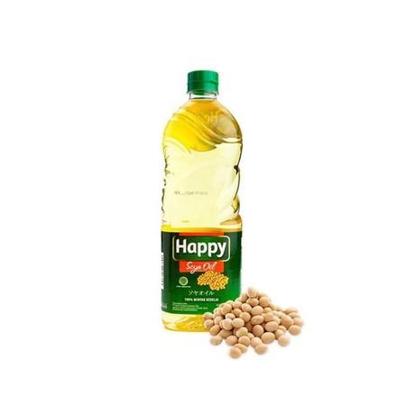 Happy Salad Oil merupakan minyak yang terbuat dari kedelai berkualitas dan melalui penyaringan yang ketat serta bebas kolesterol. Minyak goreng yang terbuat dari biji kedelai bermutu sehingga tidak mengandung protein, aman bagi penderita asam urat, dapat