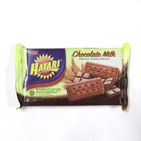 Hatari Chocolate Cream Merupakan Cemilan Biskuit Dengan Varian Rasa Krim Yang Nikmat.