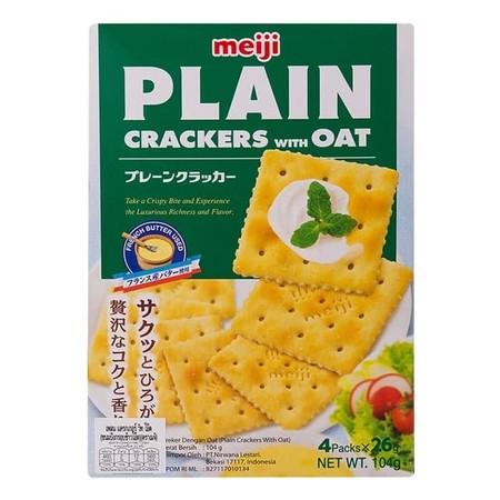 Meiji Plain Oat Crackers 104Gr Meiji Plain Oat Crackers 104GrAdalah Krekers Dengan Oat Yang Dibuat Dari Bahan-Bahan Pilihan Berkualitas.Makanan Menjadi Salah Satu Kebutuhan Yang Harus Dipenuhi Oleh Setiap Manusia, Karena Makanan Merupakan Sumber Tenag