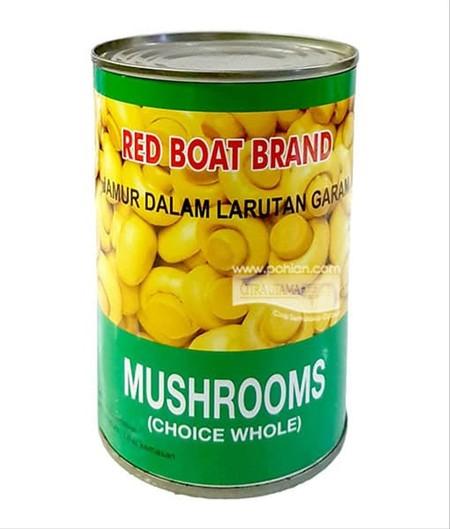 Jamur kancing kaleng merk red boat