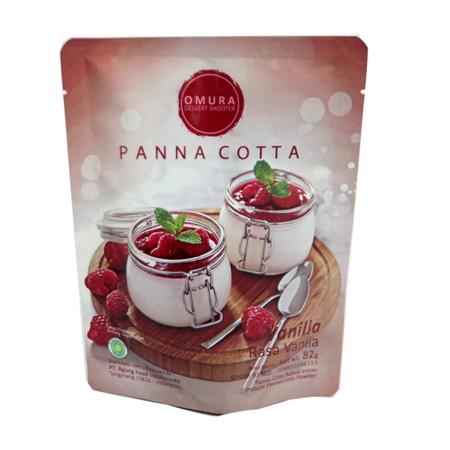 Panna cotta dibuat dari cream atau susu, lalu dicampurkan dengan gelatin dan jely untuk memperoleh tekstur yang kenyal dan lembut. Varian rasa vanilla.