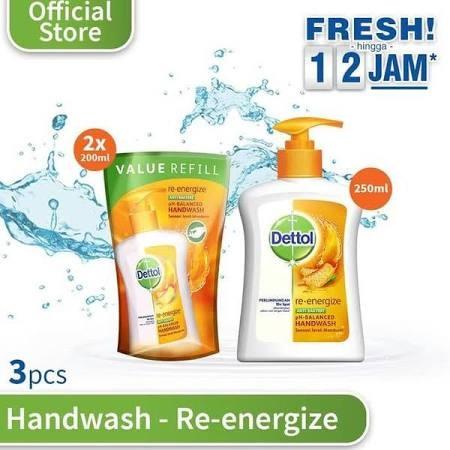 Dettol Hand Wash Re Energize 250 Ml. Sabun Cuci Tangan Dettol Dapat Melindungi 10X Lebih Baik Dari Sabun Cuci Tangan Biasa, Dari Kuman Penyebab Penyakit Seperti Flu Dan Diare. Menggunakannya Setiap Hari Dapat Melindungi Tangan Dari Kuman Dan Membantu Menj