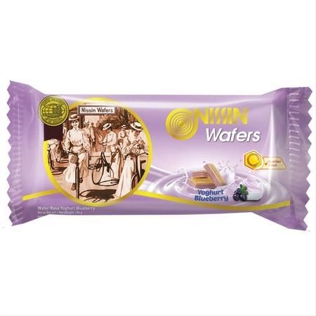 wafer yang memiliki tekstur renyah dengan rasayoghurt bluberi yang nikmat, sehingga ideal dijadikan cemilan saat santai Anda bersama keluarga.