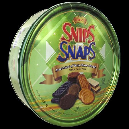 aneka biskuit dan wafer pilihan terbaik yang kaya rasa, membuat Snip Snap sangat dinikmati sebagai cemilan.
