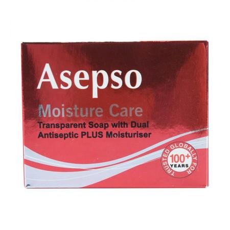 Asepso Transparent Soap Moist Care 80Gr. Membersihkan Tubuh Dengan Lebih Efektif . Membunuh Kuman Dan Menyingkirkan Bakteri.