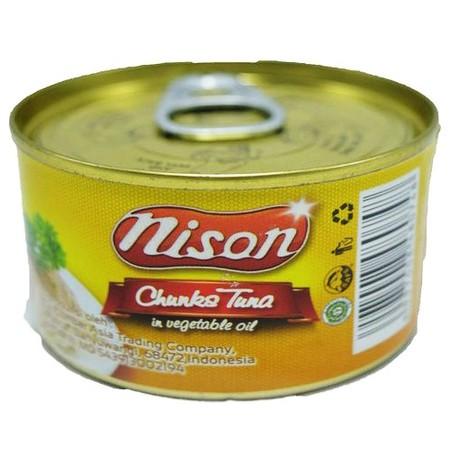 Tuna Nison Chunk minyak 90gr. Tuna suwir dengan tambahan minyak. Rasanya yang enak dan juga mengandung sumber asam omega-3.