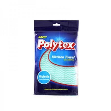 Polytex Kitchen Towel Peralatan Dapur Merupakan Lap Dengan Formula Kain Terbaik Yang Dirancang Lembut Dan Mampu Menyerap Cairan Dengan Sangat Efektif. Lap Ini Mampu Membersihkan Dapur Dengan Cepat Dan Mudah Dicuci Tanpa Meninggalkan Noda-Noda Yang Membeka