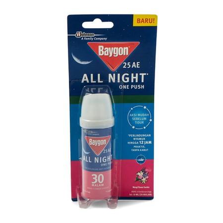 Baygon All Night One Push Mendukung Kesehatan Keluarga Anda Dengan Membantu Mereka Tidur Lelap Semalam Penuh Hingga 12 Jam Tanpa Gangguan Nyamuk Yang Menyebalkan. Nyamuk Mati Sebelum Waktu Tidur Dan Semua Orang Bangun Dengan Semangat Untuk Menaklukkan Har