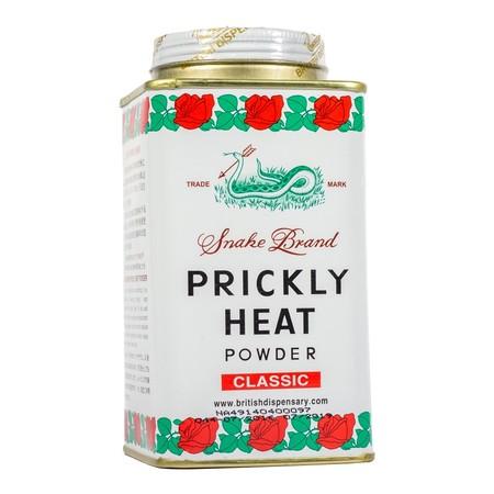 Snake Brand Prickly Classic Powder merupakan bedak dingin yang dapat digunakan untuk menghilangkan gatal-gatal seperti biang keringat, untuk mencegah bau badan, untuk membuat badan terasa dingin & sejuk, dan untuk mencegah dari gigitan nyamuk.