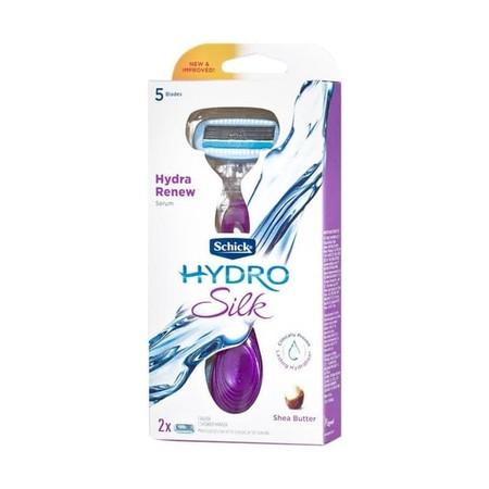 Schick Hydro Silk Kit Pisau Cukur - 5 mata pisau, hadir dengan 5 pisau penginderaan kurva memberi Anda kedekatan yang luar biasa. Menjaga kulit sehingga dapat membantu melindungi kulit Anda dari iritasi. Serum Hydra-Boost yang diaktifkan air diformulasika