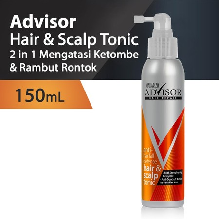 Makarizo Advisor Anti-Hair Fall Defense Hair & Scalp Tonic Works In 3 Steps To Eliminate Hair Fall And Prevent Dandruff: By Purifying The Scalp And Preventing Dandruff With Octopirox, Deeply Penetrates Into The Scalp To Promote Stronger Hair Roots With Gi