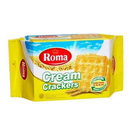 Roma Cream Crackers 135Gr Pack Roma Cream Crackers 135Gr PackDalah Crackers Cream Persembahan Roma Ini Hadir Dengan Krim Yang Lezat Untuk Menemani Anda Menikmati Waktu Luang Atau Santai Yang Lebih Asyik Bersama Keluarga Atau Teman. Terbuat Dari Gandum,