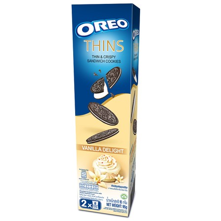 Thin And Crispy Sandwich Cookies. Chocolate Sandwich Cookies With Vanilla Flavored Cream Ingredients: Wheat Flour, Sugar, Non-Hydrogenated Vegetable Oil (Palm-Contains Antioxiant Tbhq), Milk Solids, Cocoa Powder, Invert Syrup, Cornstarch, Salt, Leavening/
