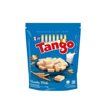 Tango Wafer Pouch Vanilla 115gr merupakan cemilan yang terbuat dari resep ahli yang mengkombinasikan wafer renyah dengan vanilla. Menghasilkan rasa yang gurih & lezat di setiap gigitannya. Ideal dinikmati saat santai Anda bersama keluarga.