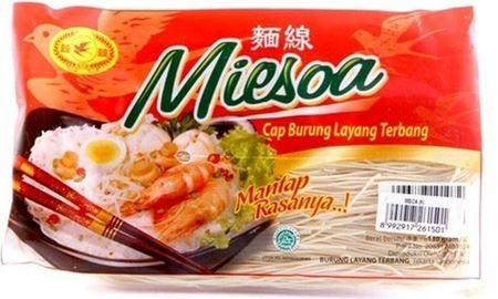 Misoa atau misua adalah mi halus dan tipis dari tepung terigu. Mi ini berwarna putih, dan selalu dijual dalam bentuk kering. Tanpa bahan kimia tambahan. Very smooth after taste. Tidak membuat enek. Cocok untuk anak-anak, orang tua dll.