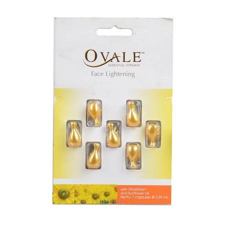 Ovale Essence Vitamin Face Lightening merupakan Vitamin wajah yang dikemas dalam bentuk kapsul, mengandung Vitamin E, A, C dan K. Menutrisi kulit wajah dan menjadikan kulit tampak cerah berseri.