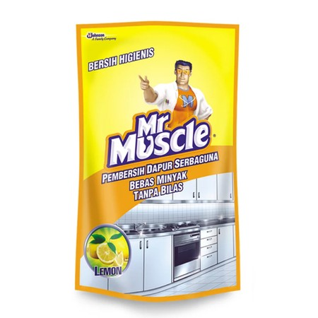 Cocok untuk membersihkan seluruh permukaan di dapur dari segala kotoran dan noda sehabis memasak. Mengandung orange oil yang sangat efektif melarutkan minyak, sehingga dapur bersih higienis dan bebas minyak. Zat anti bakterinya efektif membunuh bakteri pe