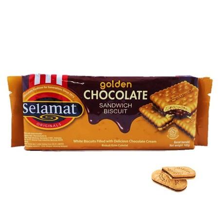 biskuit lezat dengan lapisan krim coklat ditengahnya. Cocok untuk dijadikan cemilan saat lapar.