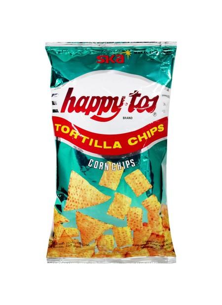 Happytos Corn Chips 160Gr   Happytos Corn Chips 160Gr Merupakan Kripik Jagung Ekstra Renyah Dengan Rasa Asin Yang Akan Memanjakan Lidah Anda. Kripik Yang Biasa Dikenal Dengan Tortila Ini Diolah Dan Dikemas Secara Higienis Untuk Memberikan Mutu Terbaik Den