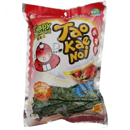 Delicious With Good Nutrients From The Sea. Ingredients: Seaweed (85%), Palm Oil (9%), Salt (1.5%), Pepper (2%), Chilli (2%), Flavour Enhancer (E627, E631) (0.5%)
