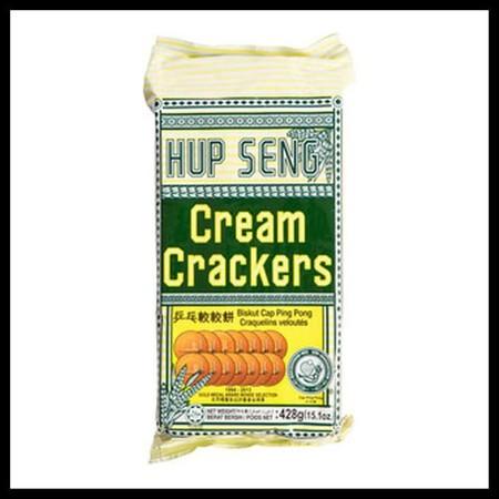 Hup Seng Cream Crackers 428Gr Pack Hup Seng Cream Crackers 428Gr PackMerupakan Biskuit Yang Terbuat Dari Bahan-Bahan Pilihan Berkualitas Yang Diproses Secara Higienis Untuk Menghasilkan Makanan Bermutu Dengan Rasa Yang Istimewa. Dengan Filling Yang Lez