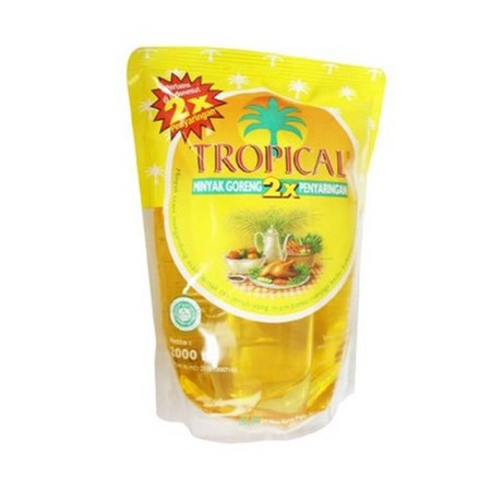 Tropical Cooking Oil Contains Unsaturated Fatty Acids (Omega 9) Which Can Help Lower Blood Cholesterol, And Also Has Vitamin E As An Antioxidant And Pro Vitamin A.  Tropical Cooking Oil Pouch [2000 Ml] Is A Cooking Oil With 2 Times The Filtering Process,