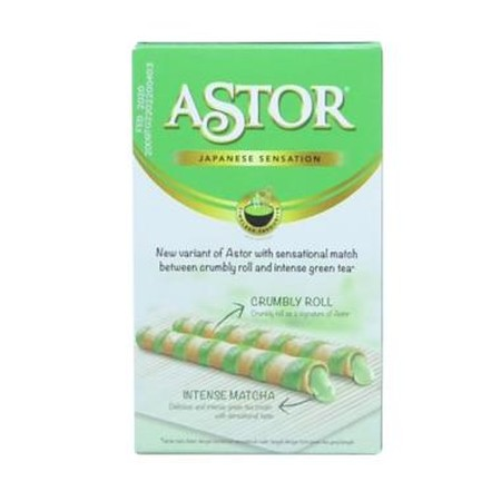 Astor Double Chocolate Tin 330Gr Merupakan Wafer Roll Matcha Satuan Yang Bertekstur Yang Unik Dengan Kombinasi Sensasional Antara Wafer Renyah Dan Matcha