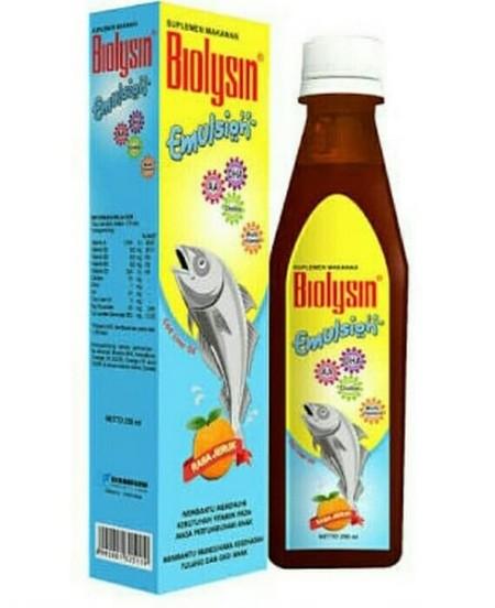 Biolysin Emulsion Jeruk Suplemen [250 mL] merupakan suplemen makanan anak yang diformulasi dalam bentuk emulsi untuk membantu memenuhi kebutuhan vitamin pada masa pertumbuhan anak. Mengandung minyak hati ikan kod dan diperkaya dengan sumber Vitamin A, vit