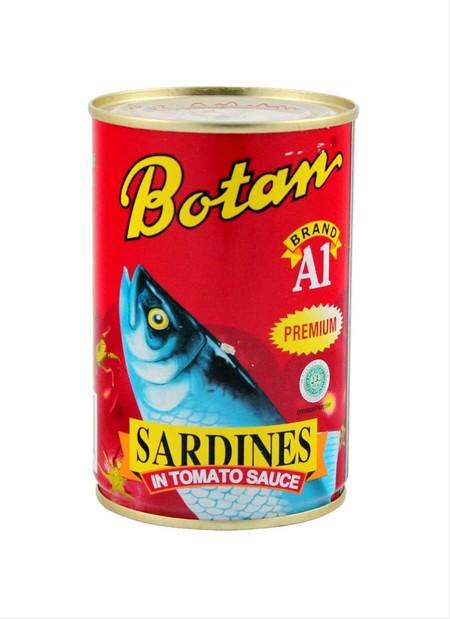 Botan Sarden Kaleng 155G Adalah Makanan Kaleng Ikan Sarden Yang Kaya Akan Manfaat. Sarden Kaleng Botan Ini Diperkaya Dengan Omega 3, Kalsium, Iron, Protein, Yodium, Dan Vitamin A, C, D, E, Dan K.