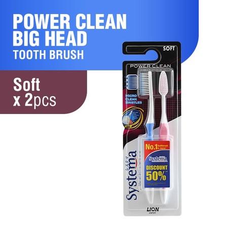 Systema power clean merupakan sikat gigi untuk perawatan gigi dan gusi. Soft, memiliki tekanan lembut bagi gusi. strong, maksimal membersihkan timbunan plak. slim, mencongkel sisa makanan hingga sela gigi dan gusi.