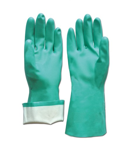 Cleaning gloves Made from nitrile Length 33cm Protect hands from the dangers of chemicals when washing dishes or cleaning the house.