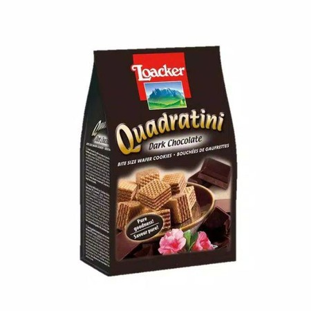 Enjoy An Unrivalled And Delicious Flavour Experience With Quadratini! The Bite-Size, Crunchy Cubes With Five Light, Crispy Wafers And Four Layers Of The Smoothest Cream Filling Will Tempt You To Enjoy More Than One.
