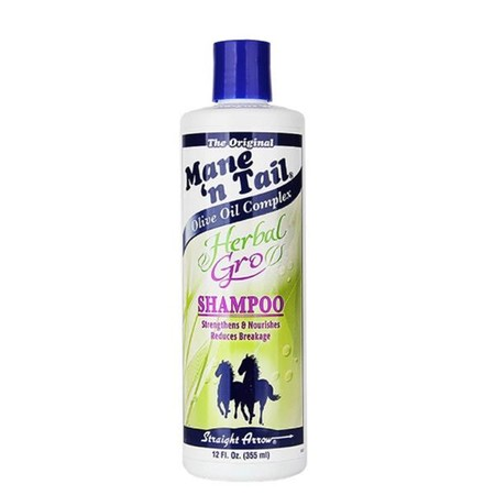 Mane N Tail Shampoo Herbal Gro benefits: -Gently cleanses, leaves hair shiny, silky and healthy looking -Micro-enriched protein formula that is designed to prevent breakage, frizz, and split ends, leaving hair stronger and longer. -Safe for relaxed, perme