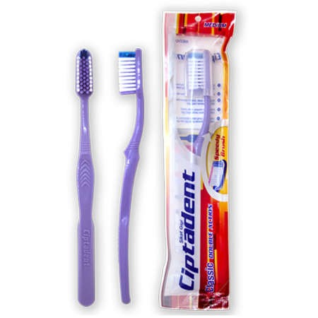 Ciptadent Sikat Gigi merupakan sikat gigi dengan bulu sikat yang lembut dan dapat membersihkan sela-sela gigi dengan baik serta mempunyai gagang sikat yang panjang & kuat.