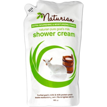 Naturian Goats Milk Fruit Fusion Shower Cream merupakan shower cream diformulasikan secara khusus dengan kandungan susu kambing murni. Nikmati keharuman dan busanya yang lembut serta rasakan sensasi kelembaban pada kulit sehabis mandi.