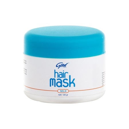 Good Hair Mask Milk Merupakan Produk Perawatan Rambut Yang Dapat Membantu Untuk Merawat Rambut Setelah Proses Kimia Pada Rambut ( Pewarnaan, Pelurusan, Dan Pengeritingan ). Kandungan Ekstrak Susu Dan Moisturizernya Berfungsi Untuk Memelihara Kelembaban Da