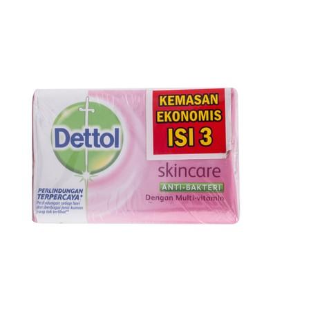Dettol Sabun Batang (Barsoap) Skincare Merupakan Sabun Mandi Anti Bakteri Bertekstur Cair Yang Mampu Memberi Perlindungan 12 Jam Terhadap Kuman Penyebab Bau Badan (Kaki, Ketiak Dan Lain-Lain). Dengan Kesegaran Khas Mentimun Dapat Membangkitkan Semangat An