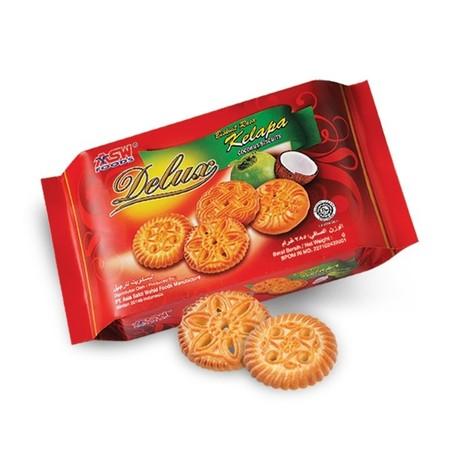 Delux Biscuit Kelapa 300gr adalah biskuit yang terbuat dari kelapa yang nikmat dan renyah. Produk ini cocok untuk dihidangkan bersama teh dan cocok untuk disajikan kapanpun.