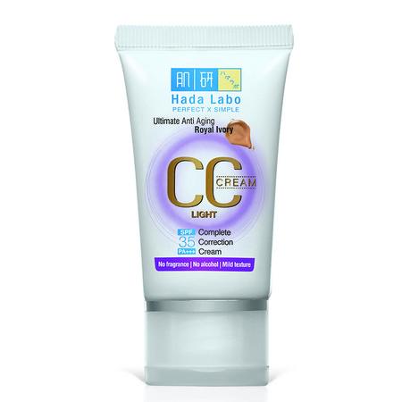 Hada Labo CC Whitening merupakan Make up base dengan Hyaluronic Acid, Arbutin & Vitamin C untuk menciptakan tampilan kulit wajah lembut , cerah berseri & cantik alami.