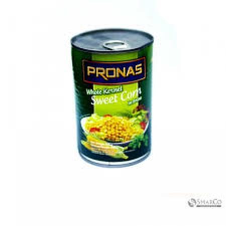 Tidak hanya mengembangkan produk dari bahan baku daging sapi, ayam dan ikan. Pronas mengimpor produk jagung manis tersedia dalam dua rasa, yaitu dikupas dan jagung manis jagung manis krim. Hal ini bertujuan untuk memberikan varian lengkap produk Pronas ya