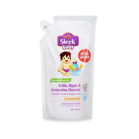 Bottles and baby equipment cleanser with 100% FOOD GRADE formulation that safe for the baby. Contains Stain Removal Formula that can eliminate residual milk fat and the stench that sticks in baby bottles. You can use this cleanser to wash vegetables and f