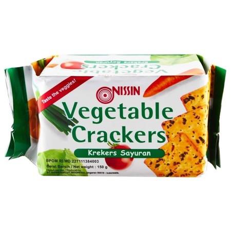 Crackers dengan rasa sayuran dan rasanya lezat.