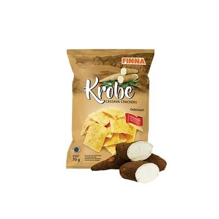 Finna krobe cassava cracker adalah snack berbahan dasar singkong yang sangat cocok untuk menemani anda saat santai maupun berlibur. Tersedia dalam berbagai variant.