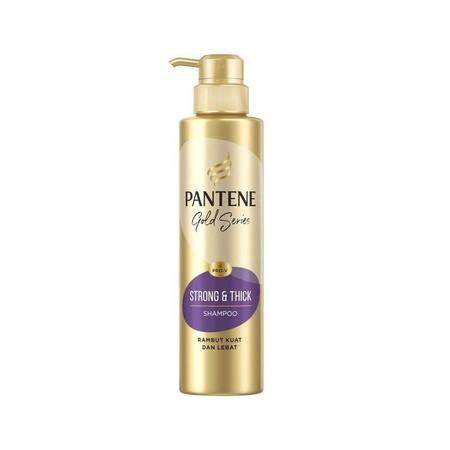 Cegah mahkota kamu dari kerontokan dan menjaganya tetap kuat serta tebal dengan shampo Pantene Strong & Thick Gold Series. Dengan sistem Vitaflex, shampo ini memberi nutrisi lengkap yang dibutuhkan rambut. Hasilnya, rambut akan terjaga kekuatannya, tak mu