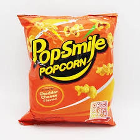 Pop Smile Popcorn Cheddar Cheese 60Gr Merupakan Berondong Jagung Yang Dibuat Dengan Bahan-Bahan Berkualitas Tinggi.