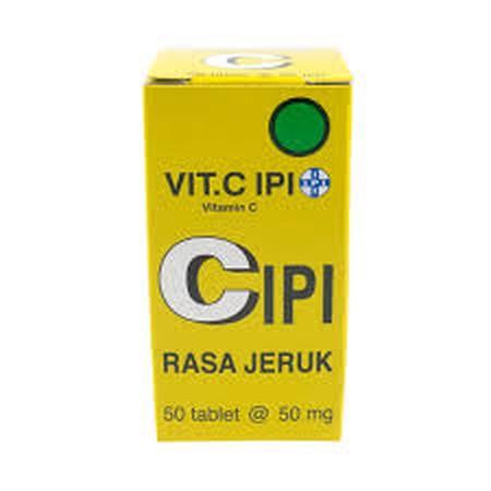Vitamin C 50mg. Pada setiap tablet Vitamin C mengandung 50mg ascorbic acid. Vitamin C dapat digunakan untuk memenuhi kebutuhan vitamin C selama hamil dan masa penyembuhan. Vitamin C juga dapat digunakan untuk terapi tambahan untuk influenza.