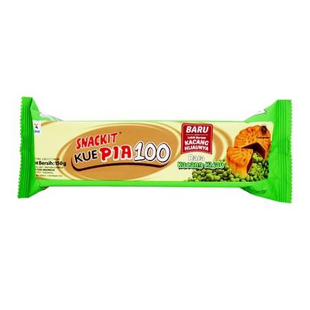Snack It pia 100, kue pia tradisional dengan packaging modern, cocok sebagai cemilan antara waktu makan. Juga tersedia kemasan mini pack dengan packaging dan bentuk kue doraemon. Varian Rasa kacang hijau.