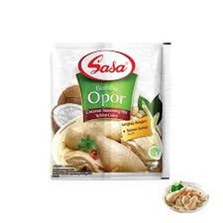 Sasa Bumbu Opor adalah bumbu resep tradisional indonesia asli yang dibuat dari bahan-bahan pilihan berkualitas yang telah dilengkapi santan bubuk. Memasak menjadi lebih mudah, cepat, dan menyenangkan dengan hasil masakan yang lezat dan nikmat.