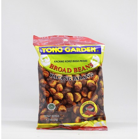 Tong garden Broad beans Chili Flavour 120g. Kacang parang/koro rasa pedas