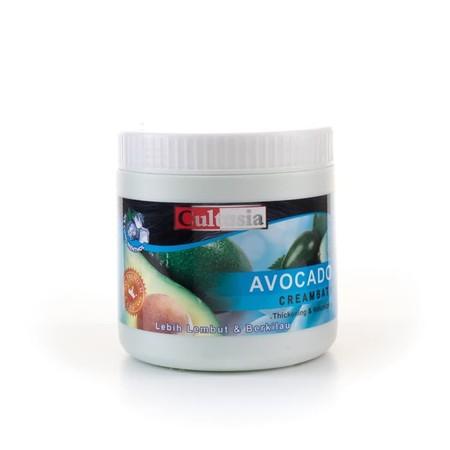 Cultusia Creambath Avocado mengandung ekstrak Avocado, dengan cream yang lembut, menjaga rambut tetap sehat, serta menutrisi rambut yang kering dan kasar.